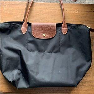 Long champ large black purse